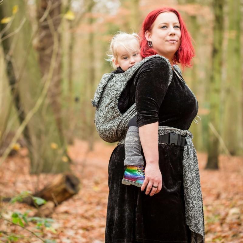 Neko Half Buckle regolabile Toddler Size Efes Paisley Hazel Dark - Neko Slings