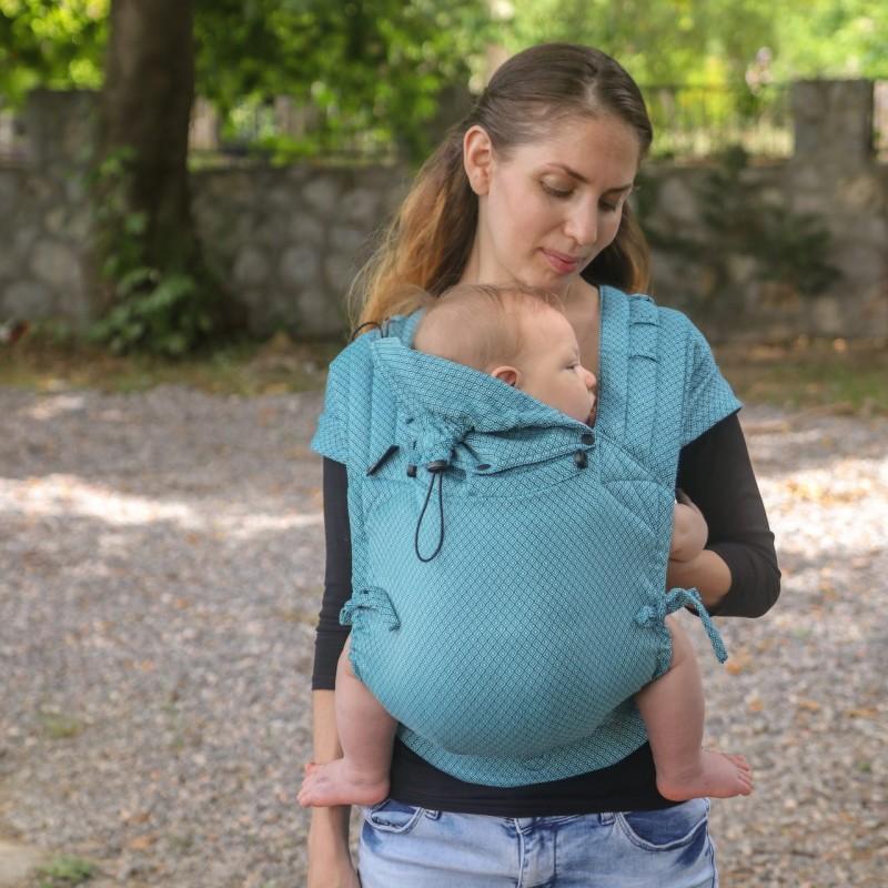 Neko Half Buckle regolabile Baby Size Blue Diamond - Neko Slings