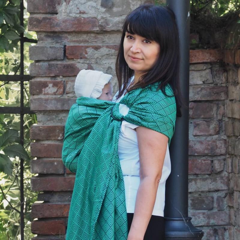 Fascia ad anelli Herringbone Emerald - Huggyberry