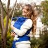 Fascia elastica portabebè Neko Slings indigo blu