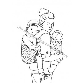Album da colorare The Babywearing Coloring Book